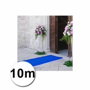 10 meter blauwe loper 1 meter breed