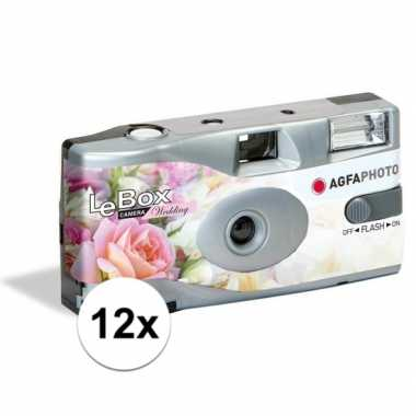 12x bruiloft wegwerp cameras met flitser voor 27 kleuren fotos