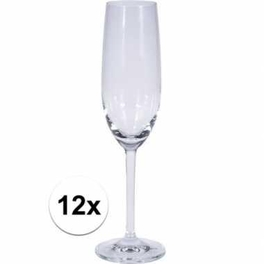12x champagne glazen 180 ml