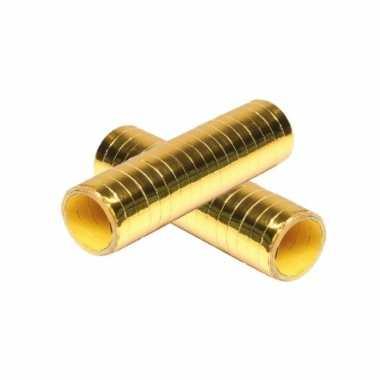 15x stuks goudkleurige rollen serpentine