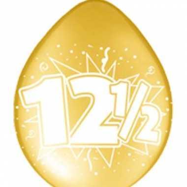 16x stuks jubileum ballonnen 12,5 jaar