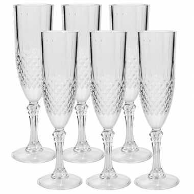 18x stuks champagne glazen 200 ml