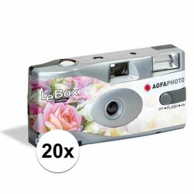 20x bruiloft wegwerp cameras met flitser voor 27 kleuren fotos