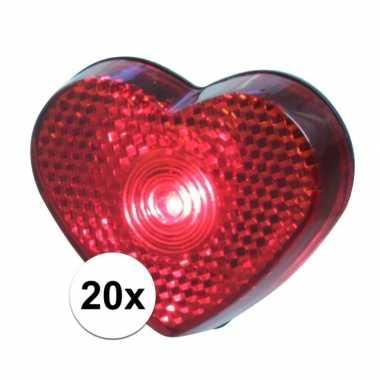 20x led hartjes lampjes op clip 5 cm