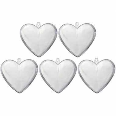 20x transparante kunststof harten 10 cm decoratie/hobbymateriaal