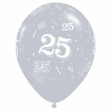 25 jaar jubileum qualatex ballonnen 25 stuks