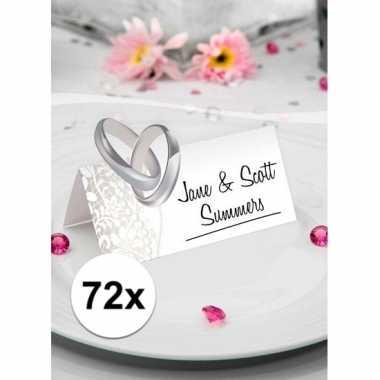 2x bruiloft tafel naamkaartjes 36 stuks