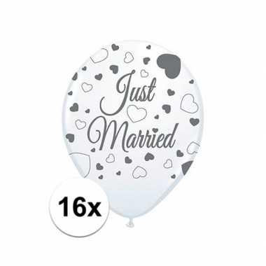 2x just married ballonnen 8st.