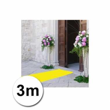 3 meter gele loper 1 meter breed