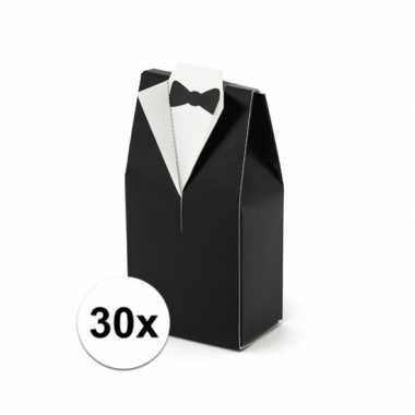 30x bruiloft kado doosjes bruidegom