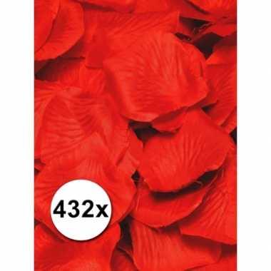 3x luxe rode rozenblaadjes