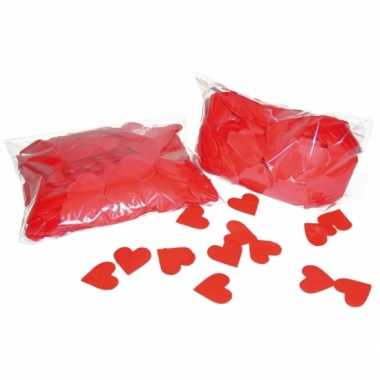 3x rode hartjes confetti 250 gram