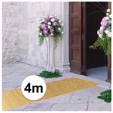 4 meter gouden glitter loper 1 meter breed