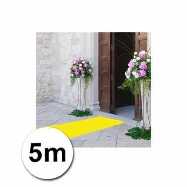 5 meter gele loper 1 meter breed
