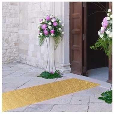 5 meter gouden glitter loper 1 meter breed