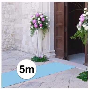 5 meter lichtblauwe loper 1 meter breed