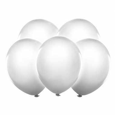 5 stuks witte led licht ballonnen 30 cm