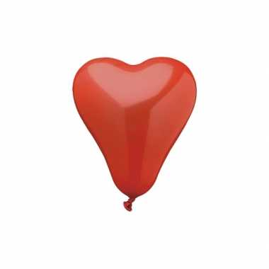 50 hartjes ballonnen rood