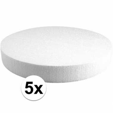 5x piepschuim schijven 30 cm breed en 4 cm dik
