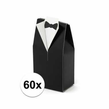 60x bruiloft kado doosjes bruidegom