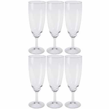 60x stuks champagneglazen van glas 150 ml
