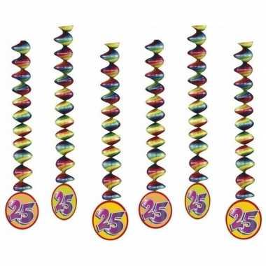 6x rotorspiralen 25 jaar versiering feestartikelen