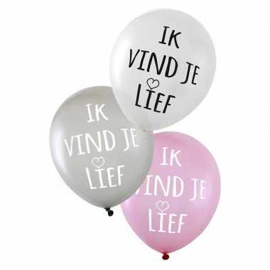 6x valentijn ballonnen ik vind je lief