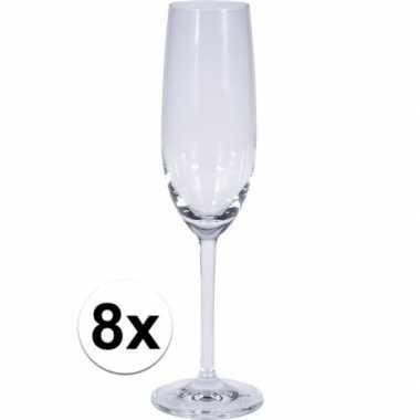 8x champagne glazen 180 ml