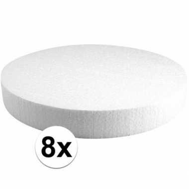 8x piepschuim schijven 30 cm breed en 4 cm dik