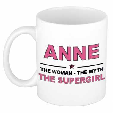 Anne the woman, the myth the supergirl cadeau koffie mok / thee beker 300 ml
