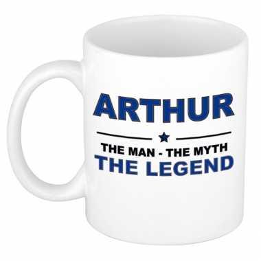 Arthur the man, the myth the legend cadeau koffie mok / thee beker 300 ml