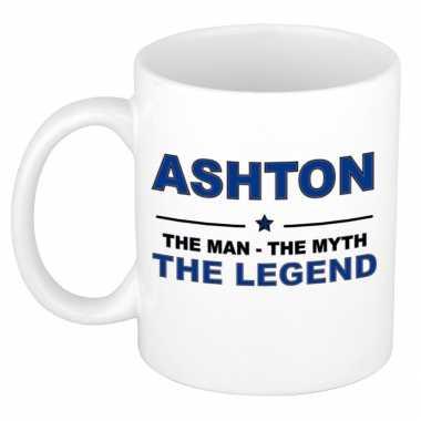 Ashton the man, the myth the legend cadeau koffie mok / thee beker 30