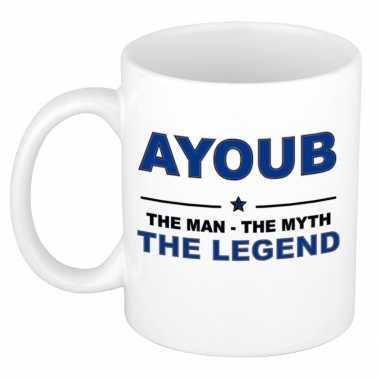 Ayoub the man, the myth the legend cadeau koffie mok / thee beker 300
