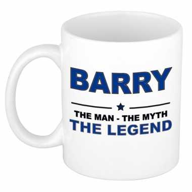 Barry the man, the myth the legend cadeau koffie mok / thee beker 300