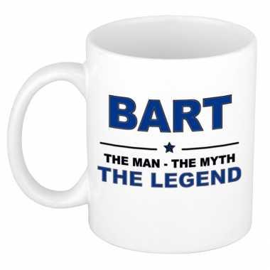 Bart the man, the myth the legend cadeau koffie mok / thee beker 300