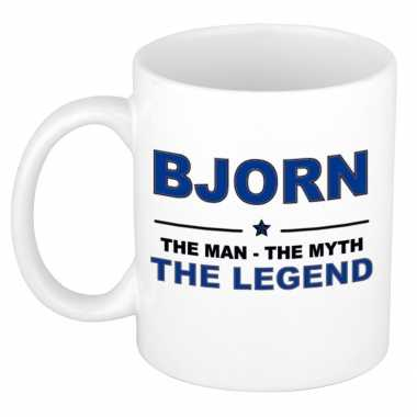 Bjorn the man, the myth the legend cadeau koffie mok / thee beker 300 ml