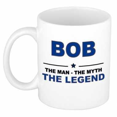 Bob the man, the myth the legend cadeau koffie mok / thee beker 300 ml
