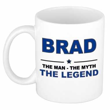 Brad the man, the myth the legend cadeau koffie mok / thee beker 300 ml
