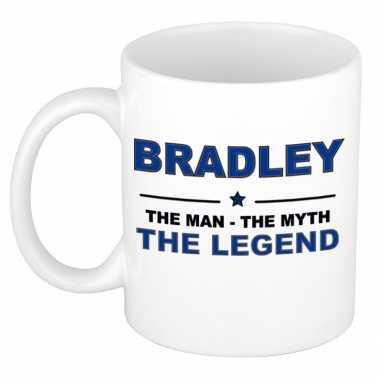 Bradley the man, the myth the legend cadeau koffie mok / thee beker 300 ml