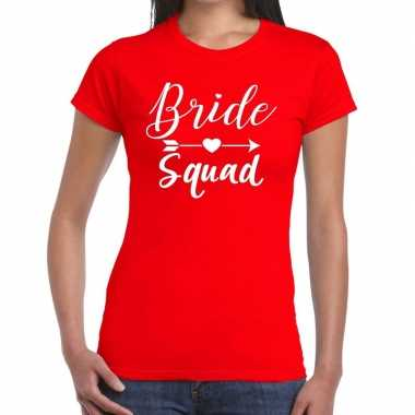 Bride to be cupido t-shirt rood dames
