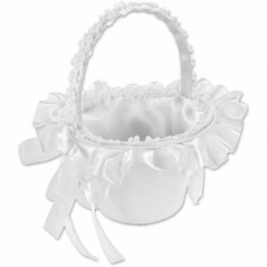 Bruids rozenblaadjes strooi mandje