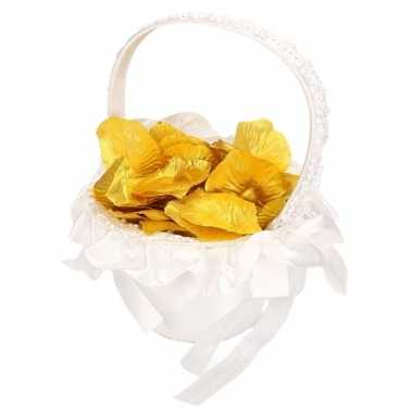 Bruidsmeisje strooimandje inclusief gouden rozenblaadjes