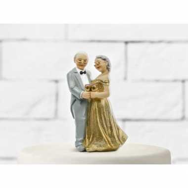 Bruidstaart figuurtje gouden jubileum