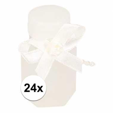 Bruiloft bellenblaas met strik 24x