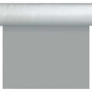 Bruiloft/huwelijk zilveren tafelloper/placemats 40 x 480 cm