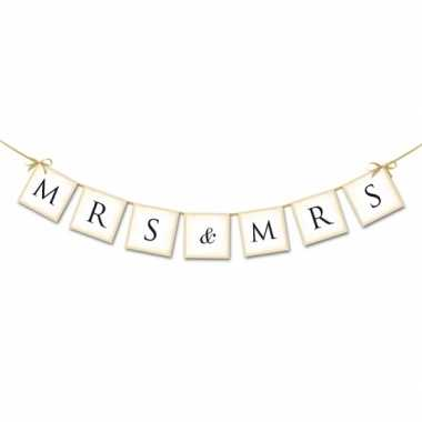 Bruiloft mini slinger mrs & mrs 77 cm