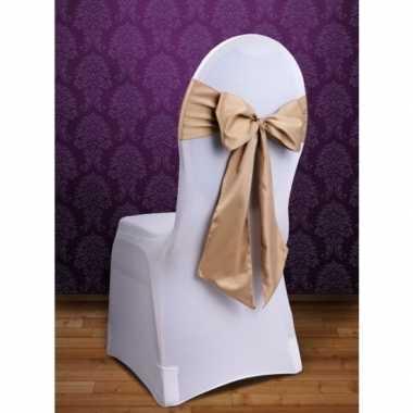 Bruiloft stoel decoratie gouden strik