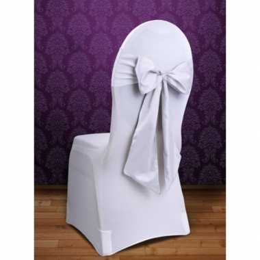 Bruiloft stoel decoratie witte strik