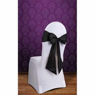 Bruiloft stoel decoratie zwarte strik