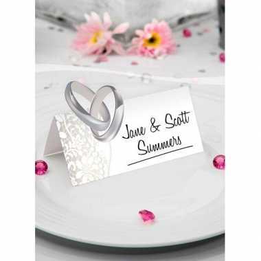 Bruiloft tafel naamkaartjes 36 stuks